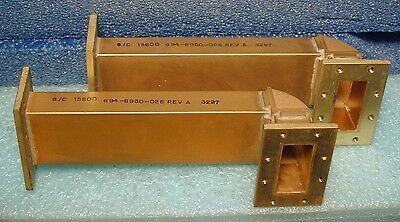 WR-137 waveguide sections, right-angled, lot of two