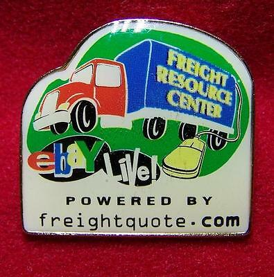 eBay Live Freightquote.com Freight Resource Center truck pinback pin