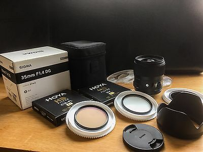 Sigma 35mm F1.4 DG HSM ART and Filters for NIKON