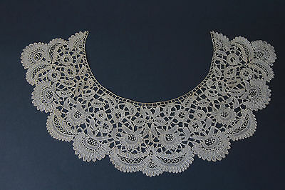 Antique Victorian lace collar handmade Honiton lace
