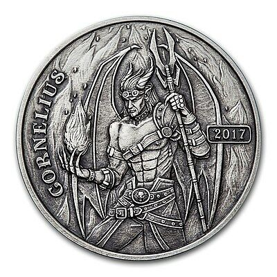 2017 Angels & Demons Steampunk Collection  - Cornelius The Fighter Silver Round