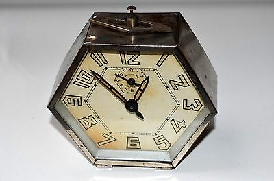 Antique Old Japy Freres Alarm Clock,vintage Deco,made In France
