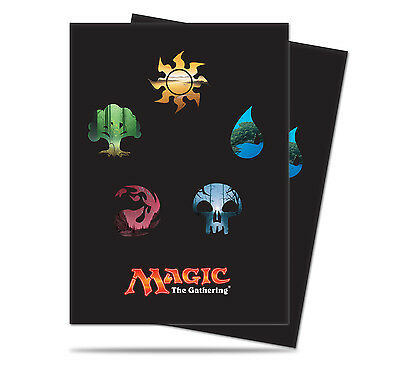 Mana Symbols series 5 (80) Ultra Pro Deck Protector Card Sleeves for MTG cards