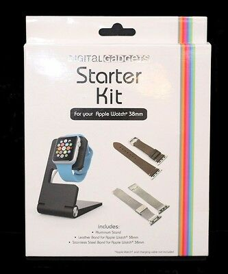 Digital Gadgets Starter Kit for Apple Watch 38mm ~ Bands & Stand ~ BRAND NEW