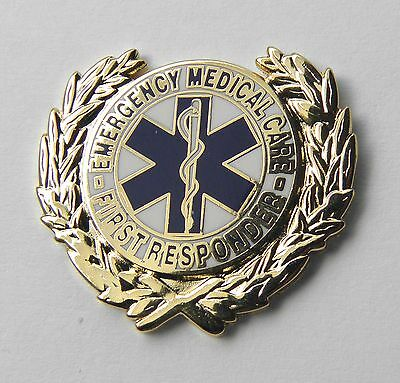 Emt Emergency Medical Care First Responder Ems Wreath Lapel Pin Badge 1 Inch