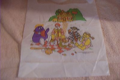 McDonald's Plastic Bib  Unused  1993 Printed USA Ronald Hamburglur others