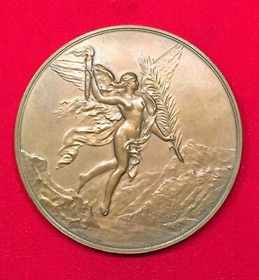 Swiss 1891  National Day 600 Years Commemoration Bronze Medal By: A. Dubois