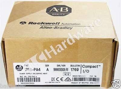 New Sealed Allen Bradley 1769-PA4 /A 2014 CompactLogix Power Supply 120/240V AC