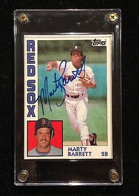 Marty Barrett 1984 Topps Autographed Signed Auto Baseball Card Red Sox 683