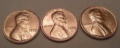 1973 P D S Lincoln Memorial Cent / Penny Set  **FREE SHIPPING**