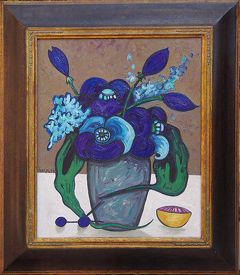 Rare Original Oil Painting by Toller Cranston. Still Life - Floral. DISCOUNTED !