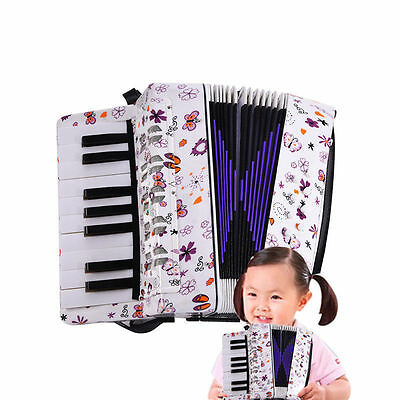 Beibeile Kids Piano Accordion Wind 17 Keys 8 Bass Button For School Educational