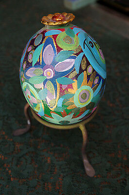 BEAUTIFUL Toller Cranston Painted Decorative Egg - Signed