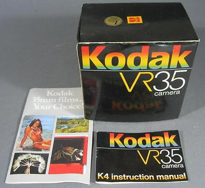 Retro KODAK VR35 K4 photgraphic/film camera BOX & INSTRUCTION MANUAL