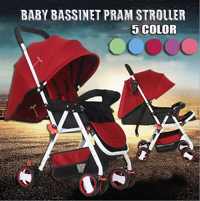 NEW 3 in 1 Baby Toddler Pram Stroller Foldable Buggy Jogger With Bassinet Travel