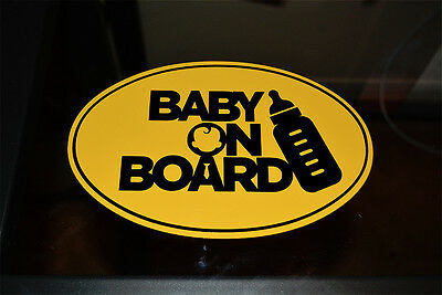 Baby on Board Decal Yellow and Black 4.85 x 7.5 inches