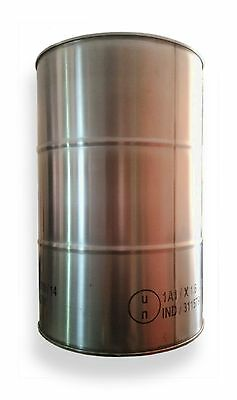 """60L 304 Grade STAINLESS STEEL DRUM - CLOSED/TIGHT HEAD with 2x BUNGS [2"""" and ¾""""]"""
