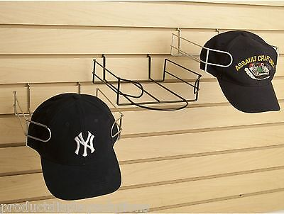 Case of 8 | Slatwall Baseball Wire Cap Display | Black, White or Chrome