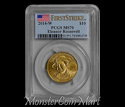 2014-W $10 Eleanor Roosevelt Spouse Gold - PCGS MS70 FIRST STRIKE