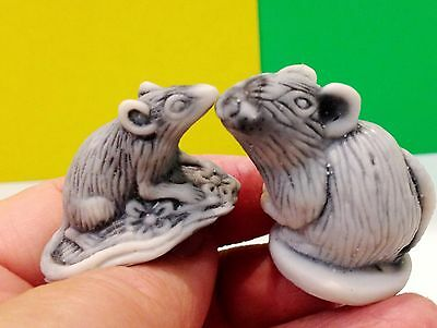 Rats figurines marble chips handmade Souvenirs Russia small rodents miniature