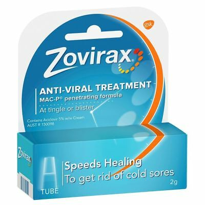 * Zovirax Cold Sore Treatment Cream Tube 2G At Tingle Or Blister Mac-P Formula