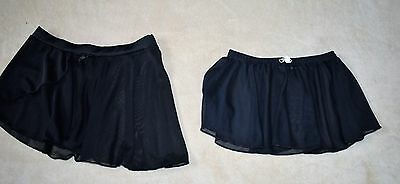 Girl's Lot of 2 Dance Skirt, Black size 3T & 4T