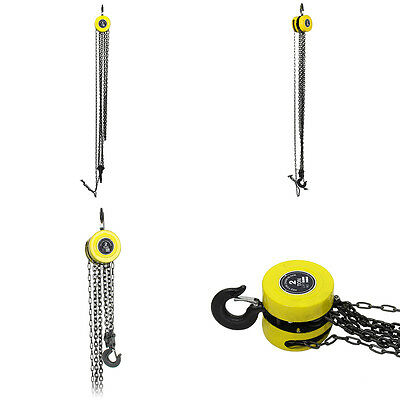 Heavy Duty Chain Hoist Pulley Tool 2 Ton Tackle Engine Winch Load Lifting Block