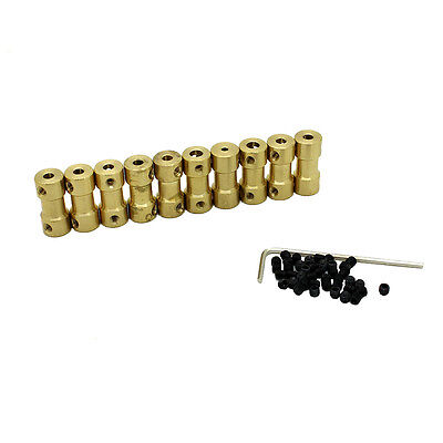 10pc 2.3/3/3.17/4/5mm*3.17mm Brass Shaft Coupling Coupler Motor Connector