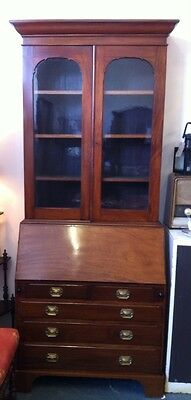Lovely Antique Victorian Superb Quality Mahogany Bureau Bookcase