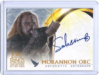 LOTR Lord of The Rings ROTK Sala Baker Morannon Orc autograph auto card