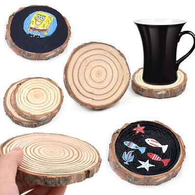 Natural Wooden Slice Cup Mat Coaster Tea Coffee Mug Drinks Round Holder Decor