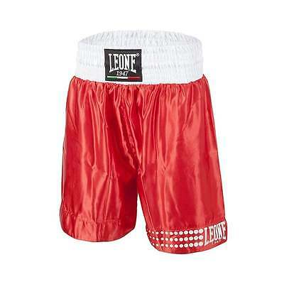 Leone 1947 Satin Boxing Shorts - Red & White FREE Tracked Delivery