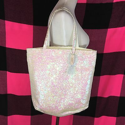 Victoria's Secret Bling Sequin Angel Travel Tote Shopper Bag NWT