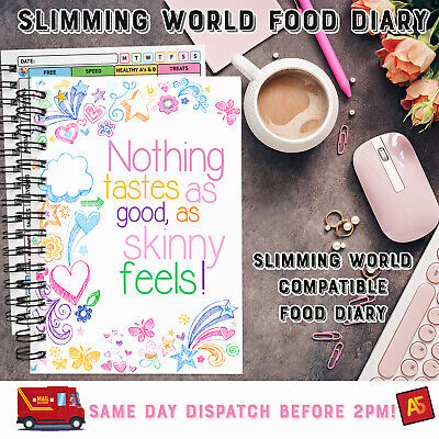 """✅✅ Food Jotter """"on Off Plan"""", Slimming, A6 Book, 25 Months : 2 Years ✅Diamante✅"""