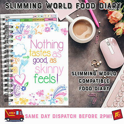 Diet Food Diary Slimming World Compatible Planner Tracker Log Book Journal WENDY