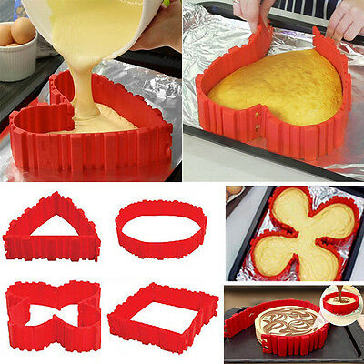 4 Pcs Nonstick Silicone Cake Mold Magic Bake Snake DIY Cake Mould Baking Tools