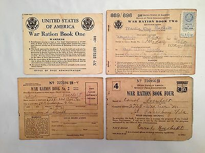 World War 2 Ration Books 1,2,3, and 4 WW2 Ephemera