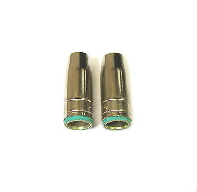 SWP M2505 MB25 MIG WELDING SHROUDS CONICAL NOZZLE FOR EURO TORCH x 2