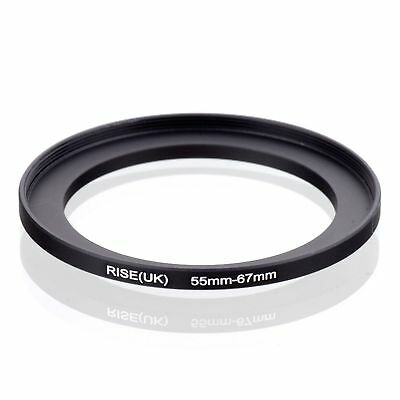 RISE(UK) 55-67 55-67mm  55mm-67mm Matel Step Up Ring Filter Camera Adapter blak