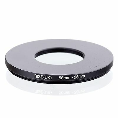 RISE(UK) 58-28  58-28mm  Matel Step Down Ring Filter Camera Adapter 58-28