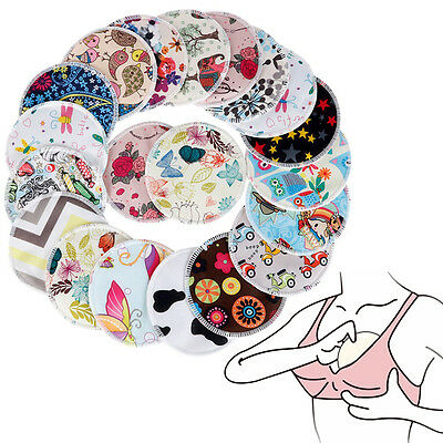 10pcs Bamboo Breast Pads Nursing Pads Mum Waterproof  Feeding Pad Reusable