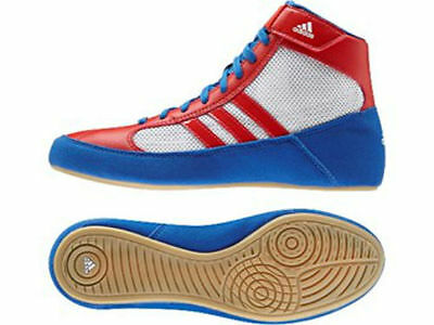 Adidas Wrestling Adults Havoc Boots / Shoes - Red/White/Blue - S77937