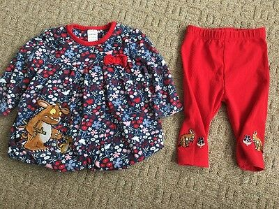 The Gruffalo Baby Girls Outfit Top Leggings TU 0-3 Months