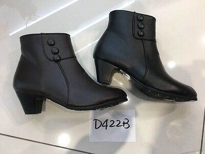 Wholesale Joblot Ladies Women Leather Look Low Heel Shoes Boots 1Box of 12 pairs