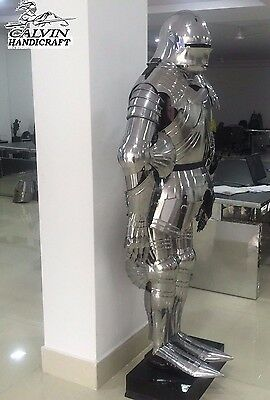 Wonderful Functional Plate Knight Full Suit Of Armor Wearable Halloween Costume