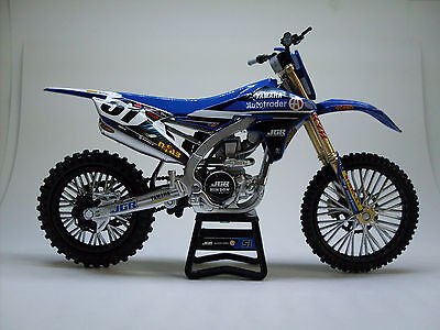 JGR YAMAHA JUSTIN BARCIA #51 model New Ray Toys Dirt Bike motocross 1:12 Scale