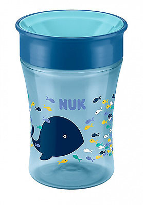 NUK - Magic Cup Jungen Kinder Trinkbecher, neuartiger Trinkrand, 230 ml blau