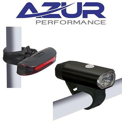 AZUR USB Light Set 400 Front / Alien 65 rear USB FRONT & REAR BIKE Combo SET