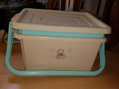 Plastic baby changing storage box, ideal for travelling/camping, house clearance