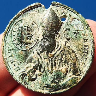 Old St Benedict Cross Medal Ancient Exorcism Prayer Against Devil Pendant Found